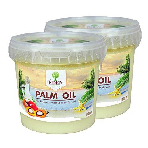 Palm Oil, Palmöl 2x1000 ml im praktischen Eimer