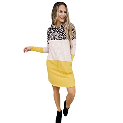 321c3e9f54d Image Unavailable. Image not available for. Color  Women Hoodies Casual  Sweater Dress ...