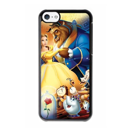 Coque,Coque iphone 5C Case Coque, Beauty And The Beast Poster Cover For Coque iphone 5C Cell Phone Case Cover Noir