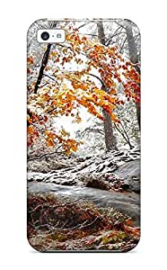 LJF phone case New Diy Design Forest For Iphone 5c Cases Comfortable For Lovers And Friends For Christmas Gifts