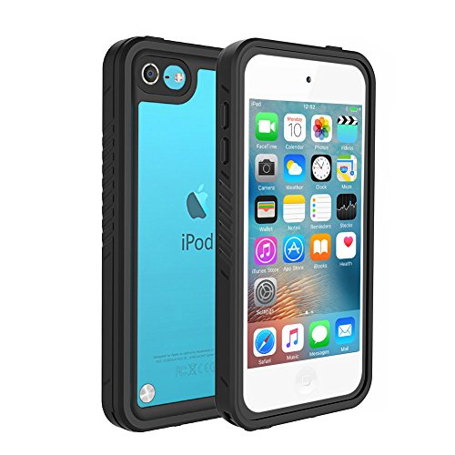 iPod Touch 5 Touch 6 Touch 7 Waterproof Case, Besinpo Sweatproof Snowproof Dustproof Built-in Touch Screen for iPod Touch 5th & 6th & 7th Generation - Black