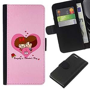 KingStore / Leather Etui en cuir / Apple Iphone 5C / Feliz San Valentín