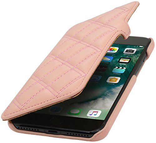 StilGut Book Type with Closure, Genuine Leather-Cover for iPhone 8 Plus & iPhone 7 Plus (5.5