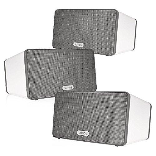 Sonos PLAY:3 Multi-Room Digital Music System Bundle (3 – PLAY:3 Speakers) – White