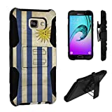 Galaxy A5 (2016) Case, DuroCase Hybrid Dual Layer Combat Armor Style Kickstand Case w/ Belt Clip Holster for Samsung Galaxy A5 SM-A510 (Released in 2016) - (Uruguay Flag)