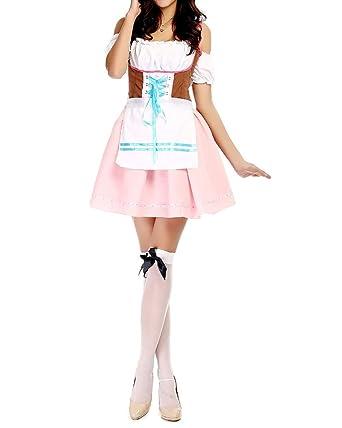 852d6a2eb91 ZongSen Oktoberfest Dirndl Maid Wench German Bavarian Fancy Dress ...
