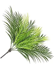 Yardwe 2pcs Fake Grey Greenery Stems Artificial Plant Tree Stems Plastic Sago Cycas Leaf for Home Faux Plants Greenery Decor