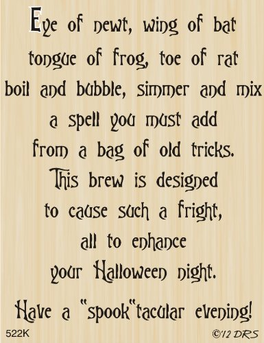 Witches' Brew Halloween Greeting Rubber Stamp By DRS Designs -