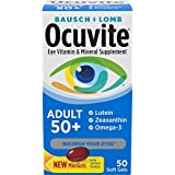 Bausch & Lomb Ocuvite Adult 50+ Eye Vitamin & Mineral Softgels 50 ea (Pack May Vary)