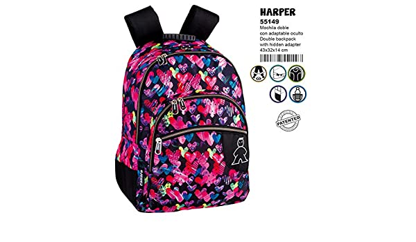 Amazon.com : Campro Harper Double Adaptable Backpack 43cm : Office Products