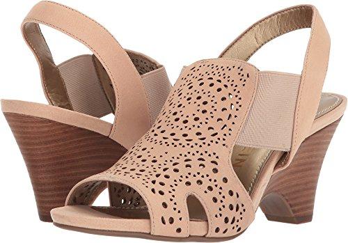 Anne Klein Women's Grandp Nubuck Heeled Sandal Light Natural/Light Natural outlet exclusive cheap really LiseAAUH