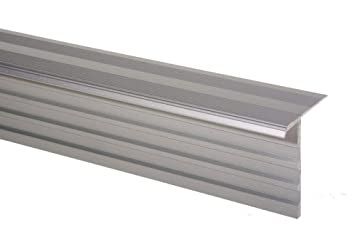 Farbe Silber 1000 mm Aluminium eloxiert Trepsa Treppenkantenprofil Trepsa Profil 1
