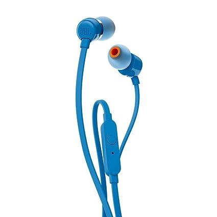 df9f51c4cf3 JBL T110 in-Ear Headphones with Mic (Blue): Buy JBL T110 in-Ear ...