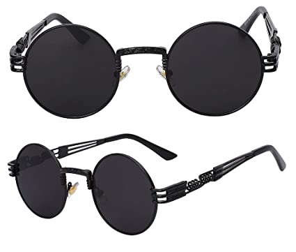 320089869c3 The Bad and Boujee s Sunglasses Steampunk Trendy Hip Hop Shades (Black  Frame + Black Lens