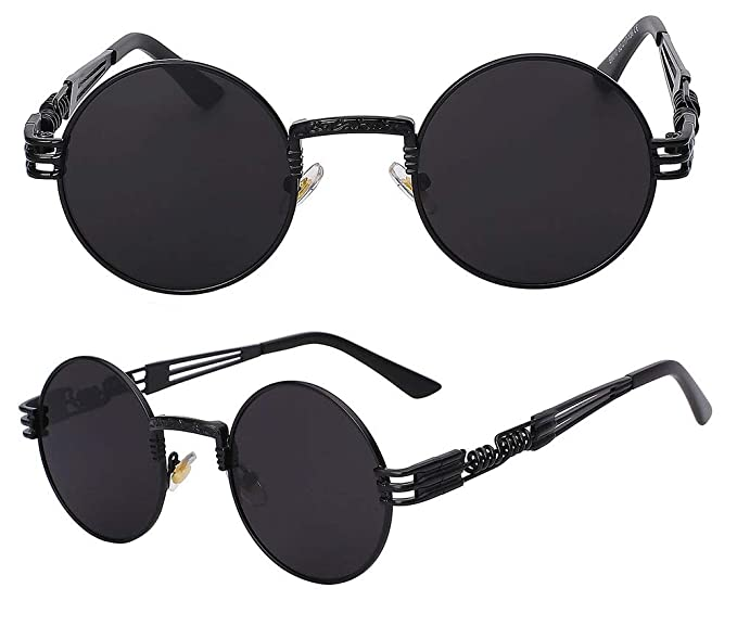 The Bad and Boujee s Sunglasses Steampunk Trendy Hip Hop Shades (Black  Frame + Black Lens 6b9aa92d4c04