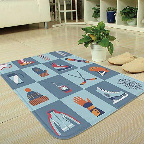 YOLIYANA Short Fur Floor Mat,Kids,for Home Meeting Room,35.43