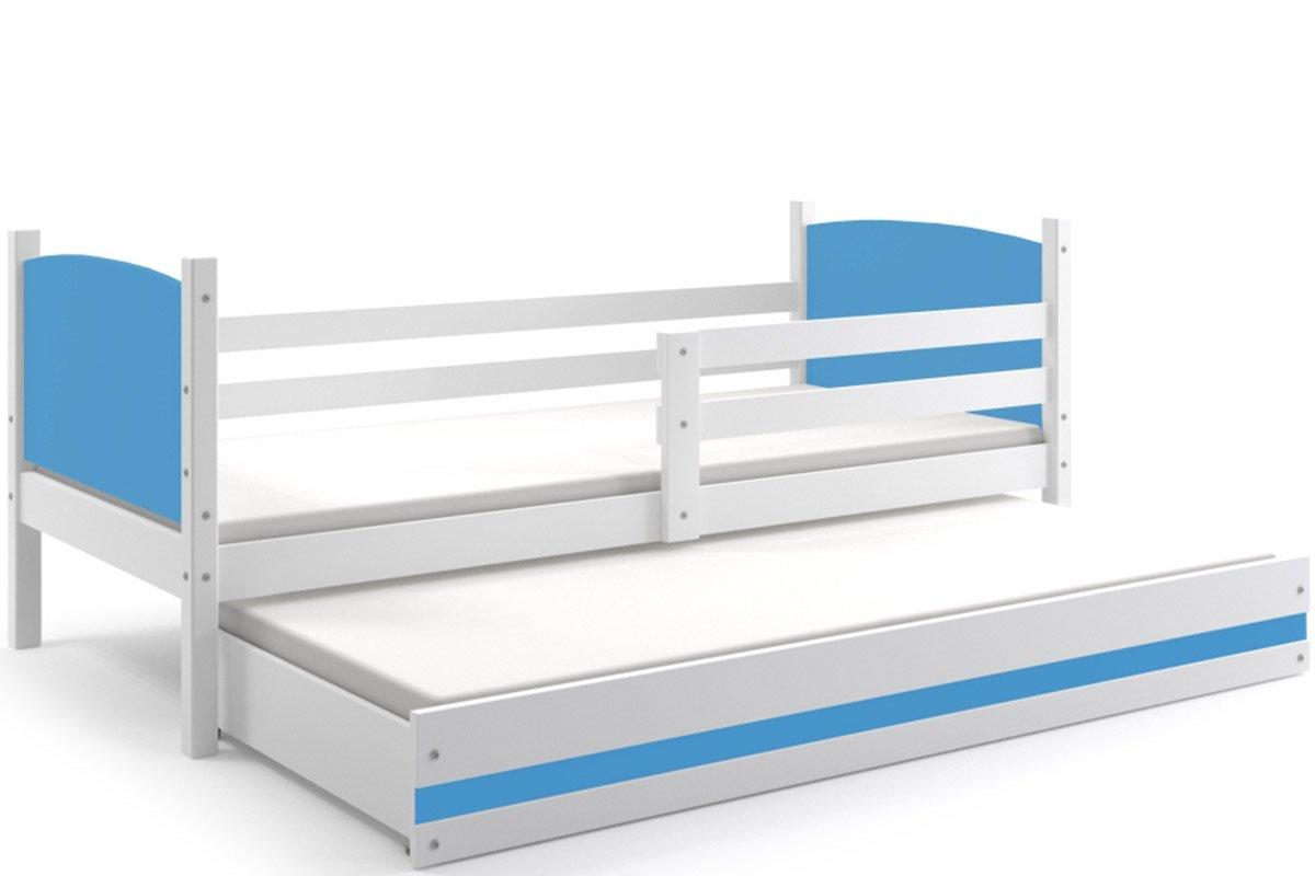 los Paneles con colch/ónes de Espuma con somieres y caj/ón Gratis Ideal para NI/ÑOS O NI/ÑAS Interbeds Cama Nido Infantil Tami 190X90 Color Blanco Azul