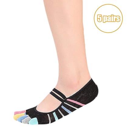 DIMPLEYA Antideslizante Calcetines De Yoga Grip Socks DiseñO ...