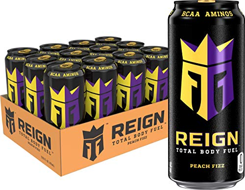(Reign Total Body Fuel, Peach Fizz, Fitness & Performance Drink, 16 oz (Pack of 12))