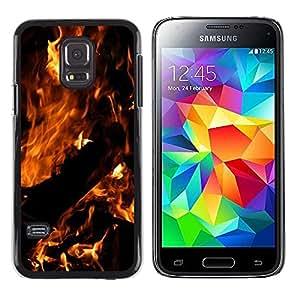 Be Good Phone Accessory // Dura Cáscara cubierta Protectora Caso Carcasa Funda de Protección para Samsung Galaxy S5 Mini, SM-G800, NOT S5 REGULAR! // Fire Dark Black Summer Night Bu
