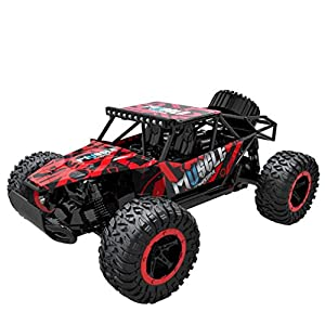 Leegor 1:16 2WD High Speed RC Racing Car Remote Control Truck Mini Off-Road Buggy Trick Car Toys Cool Xmas Gift (red)