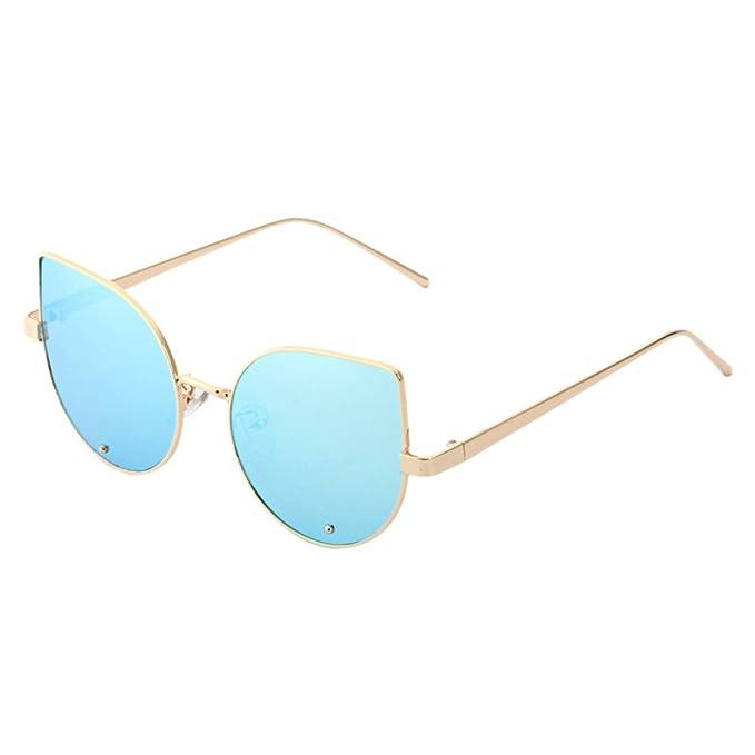 Gafas de Sol Redondas Polarizadas, ✿☀ Zolimx Moda Hombre Mujer Steampunk Espejo Redondo Gafas
