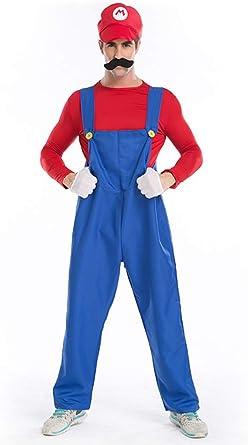 Adult FUNNY PLUMBER Super Mario TV Video Games Mens Fancy Dress Costume S M L XL
