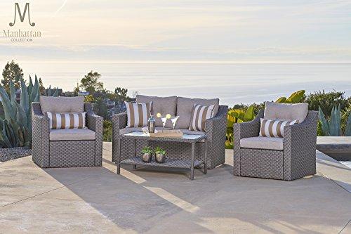 SOLAURA Outdoor Patio Furniture Set 4-Piece Conversation