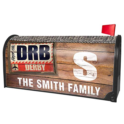 NEONBLOND Custom Mailbox Cover Airportcode DRB Derby -