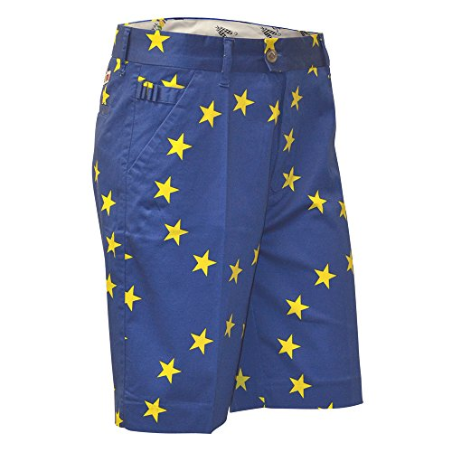 Premier English Football League - Royal & Awesome Men's Golf Shorts, Eurostar, 36