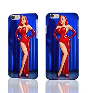 Jessica Rabbit Pattern Hard Durable 3D Cover Rough Skin Case for Apple iPhone 5c - 5c