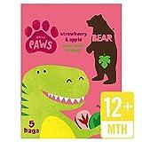 Bear Fruit Paws Dino Strawberry & Apple Multipack - 5 x 20g