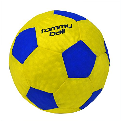 t Indoor Kids Soccer Ball (Footbag Type of Ball - Soft Kick - No Sting - Foam Stuffed - Size 3) (yellow/blue) ()
