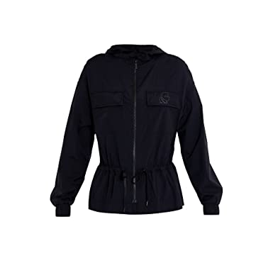 Schwarz Polyamid Lagerfeld Damen Jacke Karl 61kw1502nero kuTXPiOZ