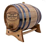 Personalized - Custom American White Oak Aging Barrel - (2 Liters, Black Hoops)