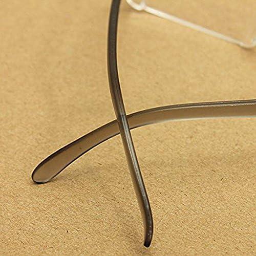 Beauneo moda occhiali nero lettura Aiuto visivo Design moderno senza bordo Occhiali 2,0