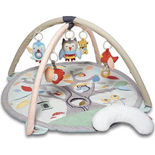 Skip Hop Treetop Friends Baby Play Mat Activity Gym, 36 X 19H, Grey/Pastel