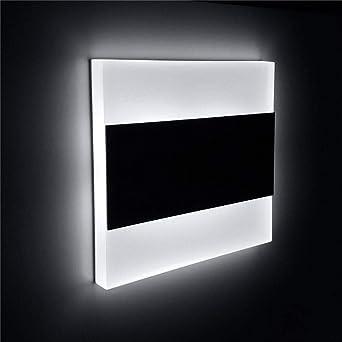 3W led escalera luz acrílico pared lámpara pasillo pasillo decorativo noche luz incrustado -3w blanco frío Luz: Amazon.es: Iluminación