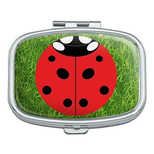 Lady Bug Ladybug Insect Rectangle Pill Case Trinket Gift Box