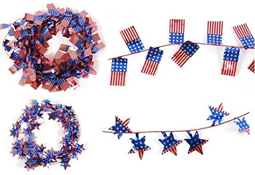 DDI 1892867 Patriotic Wire Garland with Die Cut Icons Case of 36