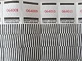 500 Optical Lines Tyvek Wristbands, 3/4'' Event Identification Bands (Black)