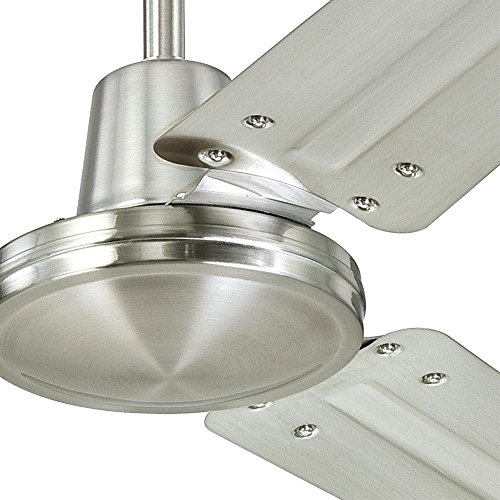 Westinghouse Lighting 7861400 Industrial 56-Inch Three-Blade Indoor Ceiling Fan, Brushed Nickel with Brushed Nickel Steel Blades by Westinghouse Lighting (Image #3)