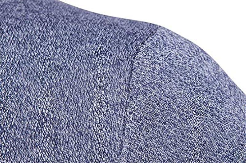 Męski jesień zima sweter dziergany modny okrągły dekolt casual wycięcie Knit sweter elegancki długi rękaw sweter z dzianiny: Odzież