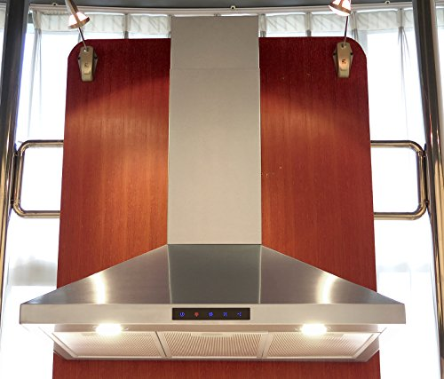 36in Wall Hood (Kitchen Bath Collection STL90-LED Stainless Steel Wall-Mounted Kitchen Range Hood with High-End LED Lights, 36