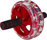 DiBoBo Ab Wheel Roller for Men and Women - Best Cardio Workout Exercise for Home Fitness and Gym (Red)