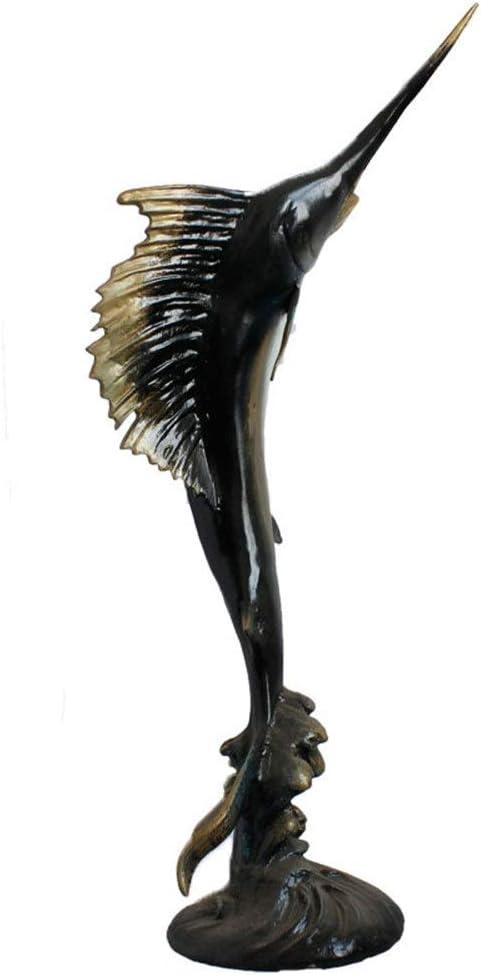 Subobo Adornos Vintage Escultura De Hierro Fundido Decoración nórdica Grande Día pez Espada Oficios de San Valentín en Forma de decoración for el hogar Mostrar en Interiores o Exteriores