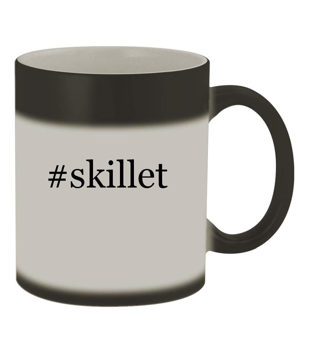 #skillet - 11oz Color Changing Hashtag Sturdy Ceramic Coffee Cup Mug, Matte Black