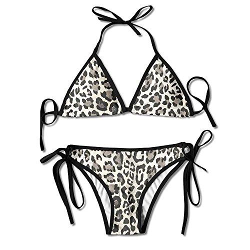 Leopard Print Bikini Women's Summer Swimwear Triangle Top Bikinis Swimsuit Sexy 2-Piece Set (Top Triangle Leopard)