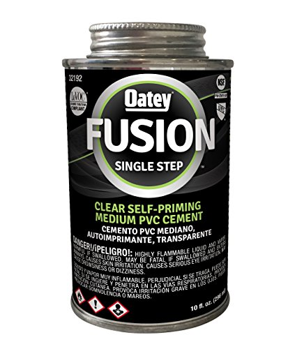Oatey 32192 Fusion One-Step Clear Medium-Bodied PVC Cement, 10 oz,