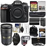 Nikon D500 Wi-Fi 4K Digital SLR Camera Body with 24-70mm f/2.8G Lens + 64GB Card + Backpack + Flash + Battery & Charger + Grip + Kit